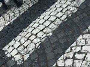 Calle empedrada antigua