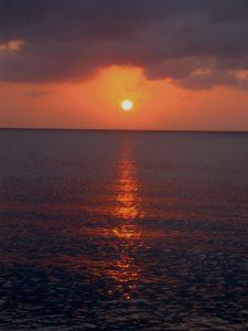 Atardecer en la isla de San Andrés