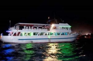 Barco rumbero, isla de San Andrés