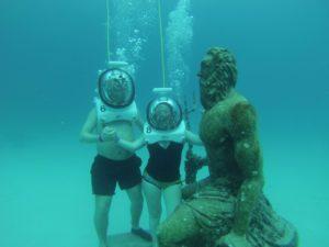 Buceando con escafandra en la isla de San Andrés