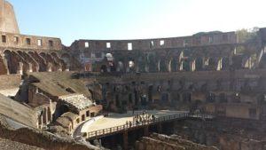 Coliseo en su interior