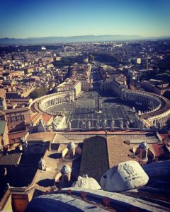 Roma desde la Cúpula de la Basílica