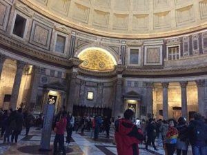 Panteón en su interior