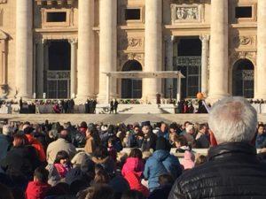 Momento previo a la misa con el Papa