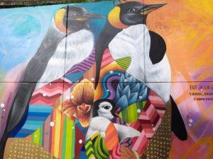 Familia, mural de colores