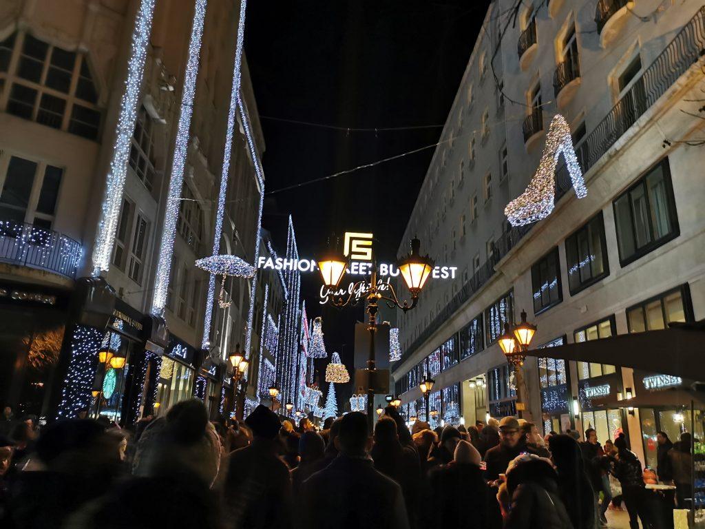 Multitud año nuevo Budapest
